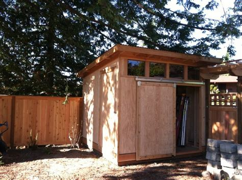backyard shed modern garage and shed seattle by