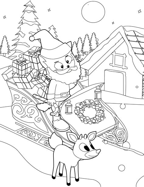 winter wonderland coloring pages coloring home santa coloring page handipoints