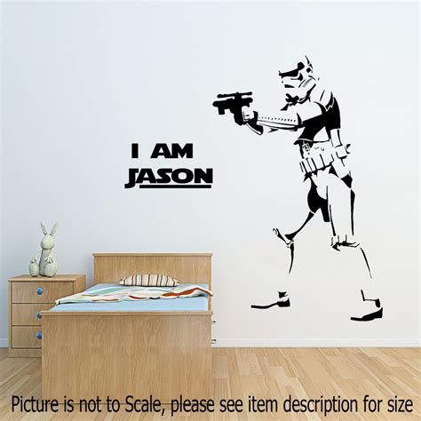 wars wall sticker wars stormtrooper wall stickers starwars personalized