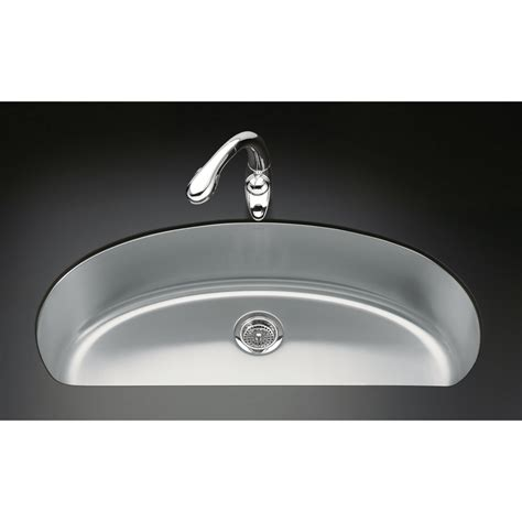 shop kohler undertone 18 5 in x 37 5 in single basin