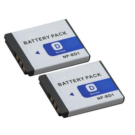 Sony Np Bd1 Original 100 Baterai Battery Pack new 2x for sony np bd1 np fd1 npbd1 npfd1 type d lithium