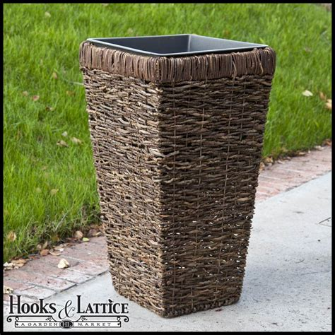 Rattan Planter by Wicker Planters 17 Quot 26 Quot Or 30 Quot High Brown Rattan