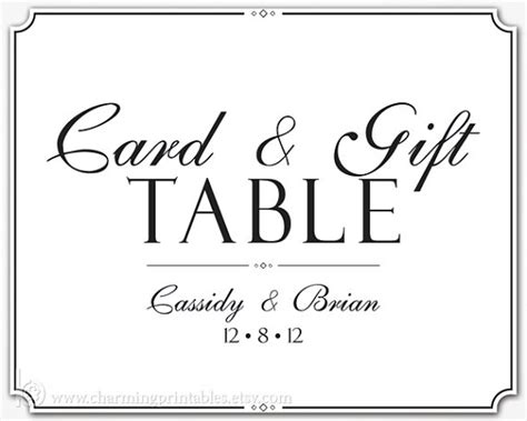 cards and gifts sign template 9 best images of free printable wedding card table sign