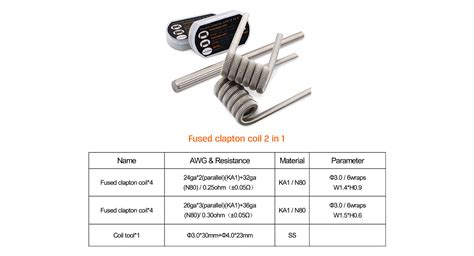 Vaperneed Fused Claptone Wire 0 25ohm 8pcs geekvape n80 fused clapton coil 2 in 1