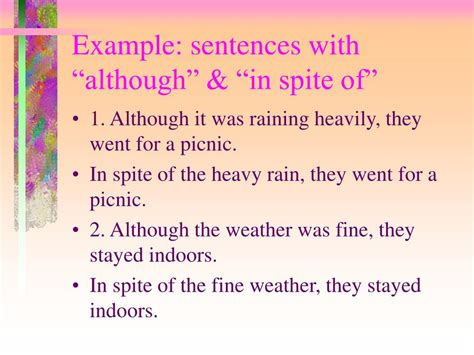 use section in a sentence using although in a sentence pictures to pin on pinterest