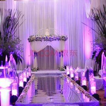wedding aisle runner marriage silver color mirror
