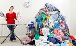 declutter  ironing pile   iron  business