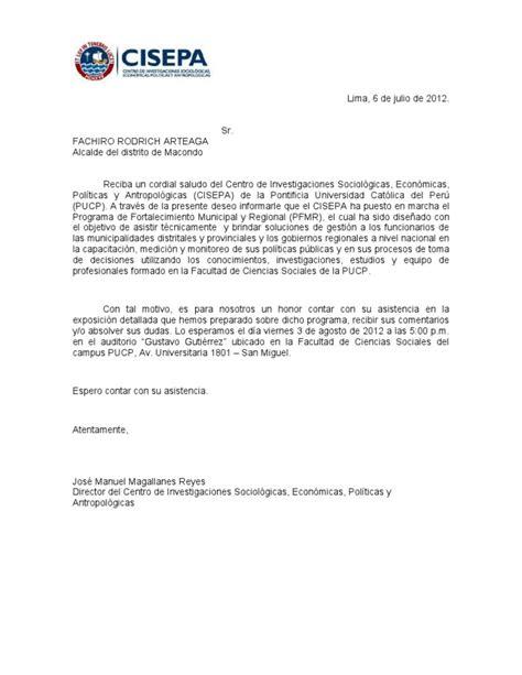 modelo carta de invitacion a conferencia carta de invitaci 243 n a alcaldes y gerentes municipales docx