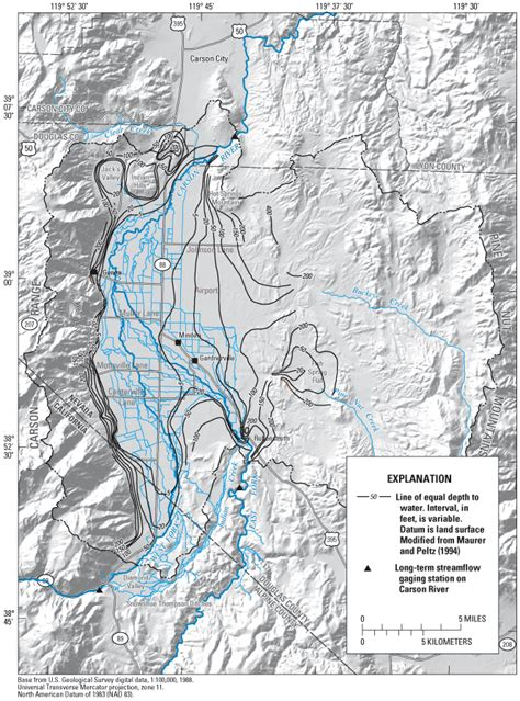 nevada water table depth water budgets and potential effects of land and water use