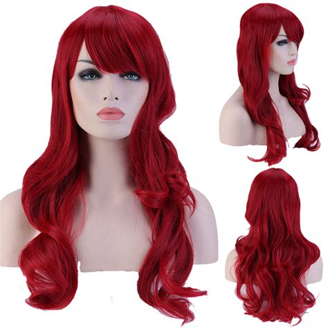 wig grips for women that have hair 19 quot 48cm full head curly dark red wigs heat resistant