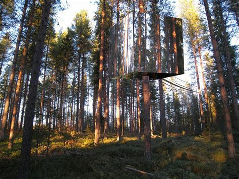 tree hotel sweden the mirrorcube treehotel in sweden 171 twistedsifter