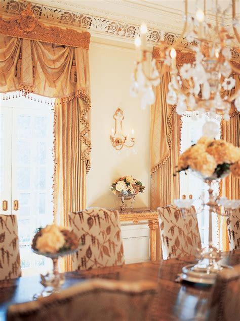 victorian dining room  elegant drapes hgtv