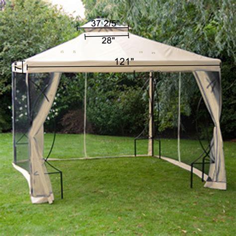 Waterproof Gazebo Canopy Replacement by 10x10 Replacement Garden Gazebo Canopy Top W Netting