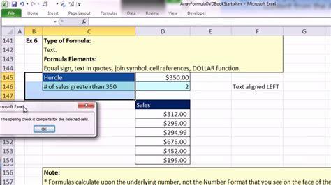 excel tutorial array formula excel 2007 array formula exles guidelines and