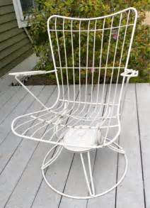 Wire Patio Chairs 50 S Mid Century Homecrest Patio Swivel Rocker Wire Chair Bertoia Eames Era Ebay For The