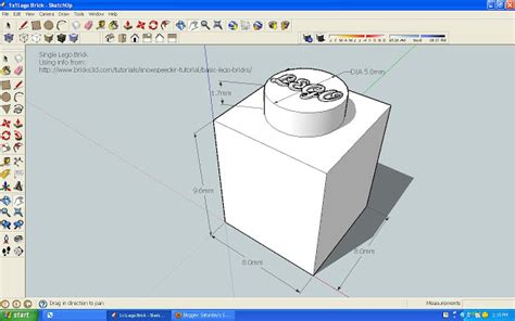sketchup layout ortho saturday s sketchup first steps a lego brick
