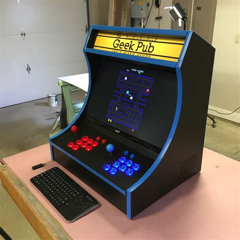 bar top arcade cabinet bartop arcade cabinet plans the geek pub
