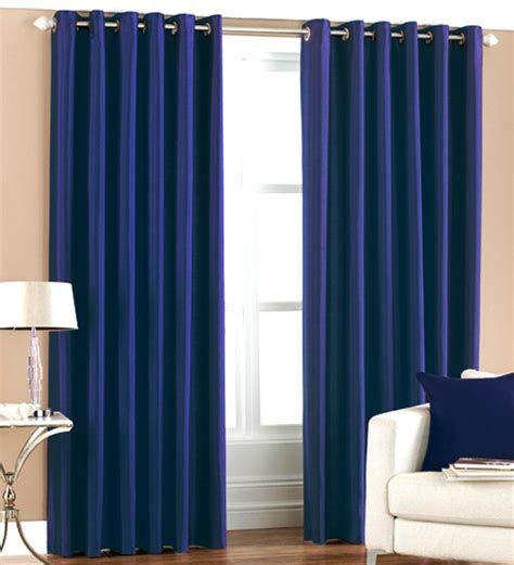 Royal Blue Bathroom Window Curtains Pindia Solid Royal Blue Window Curtains Set Of 2 5 Ft