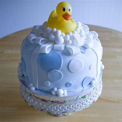 Duck Baby Shower Cake by Rubber Ducky Fondant Cake Baby Shower Cake For A Lucky