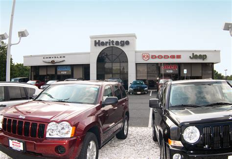 Heritage Chrysler Dodge Jeep by Mileone Heritage Chrysler Dodge Jeep Stores In Baltimore