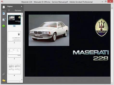free online car repair manuals download 1990 maserati karif transmission control service manual free repair manual for a 1990 maserati 228 service manual 1990 maserati 228
