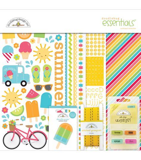 doodlebug essentials kit doodlebug sunkissed essentials page kit 12 x12
