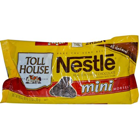nestle toll house nestle toll house mini morsels real semi sweet chocolate 12 oz 340 g iherb com