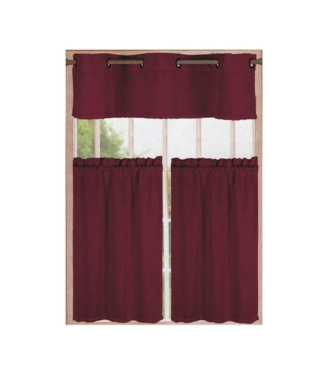 bedding 3pc kitchen curtain grommet window panel