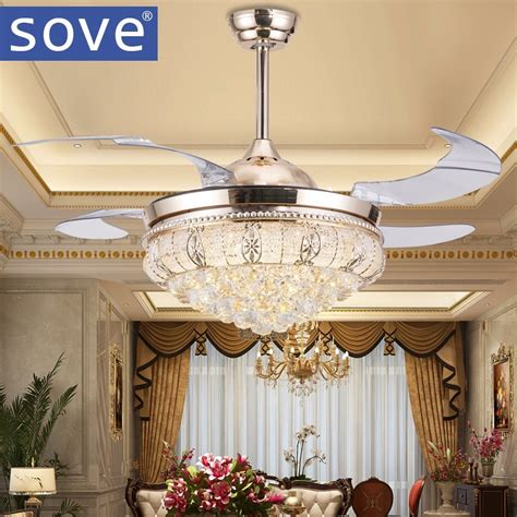 beautiful bedroom chandeliers with fans 1000 ideas about popular ceiling fan crystal chandelier buy cheap ceiling