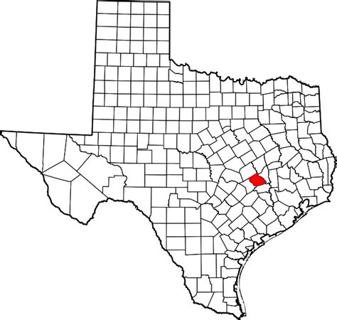 burleson county texas map file map of texas highlighting burleson county svg wikimedia commons