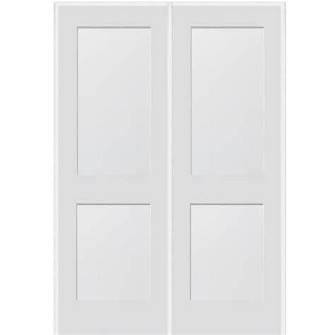 mmi door 74 in x 81 75 in classic clear glass 1 lite mmi door 74 in x 81 75 in primed 2 panel flat double