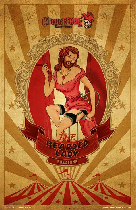 bearded circus circus freak professional vintage style