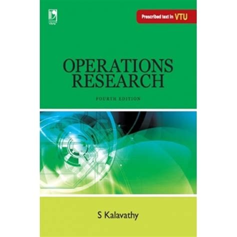 Operation Research Pdf Books For Mba by Operations Research 4th Edn By S Kalavathy Pdf