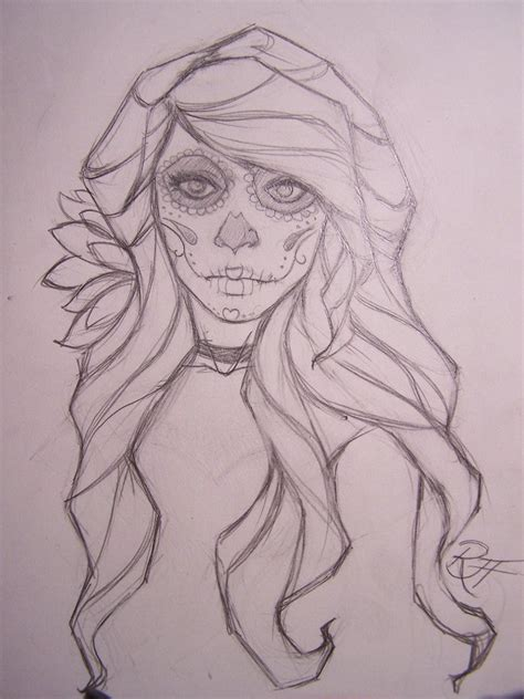 dia drawing dia de los muertos by ravenswritingdesk on deviantart