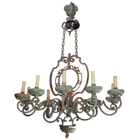 Country Chandeliers Country Vintage Iron Chandelier At 1stdibs