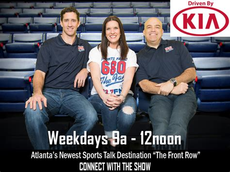 680 the fan atlanta the front row personalities meshing for sports talk