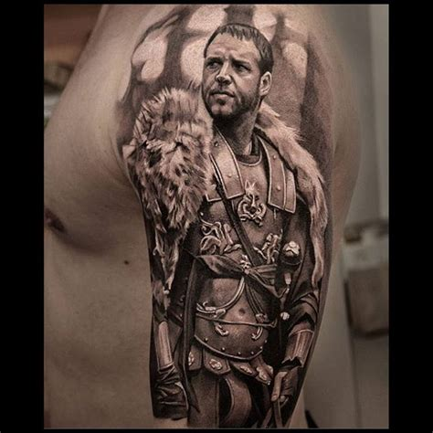gladiator film tattoo badass gladiator tattoos tattoo artist magazine