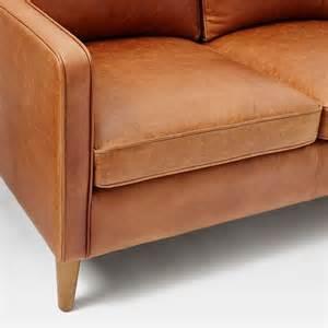 upholster leather sofa hamilton leather sofa west elm