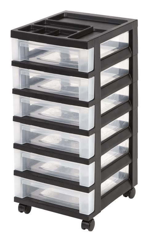 Kmart Storage Drawers by Iris 6 Drawer Storage Cart With Organizer Top