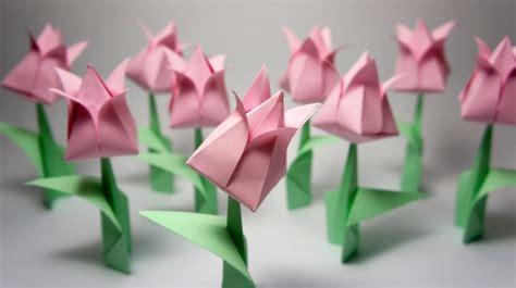 membuat bunga tulip kertas cara membuat origami
