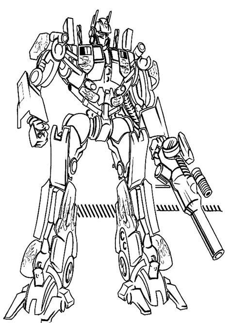 easy transformer coloring page optimus prime pictures to color decorative transformers
