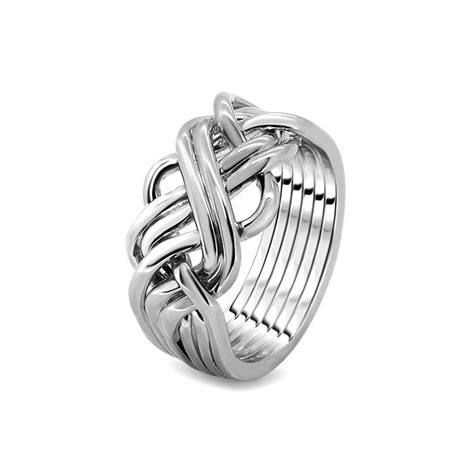 mens silver 6awb m puzzle rings creations