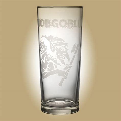 pint glass hobgoblin etched effect pint glass wychwood