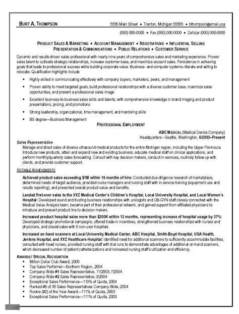 telesales representative resume