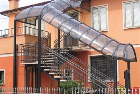 tettoie per scale esterne copertura scale esterne scale