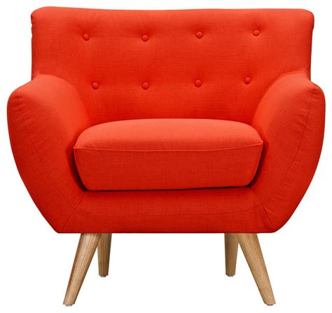 retro orange ida armchair midcentury armchairs and