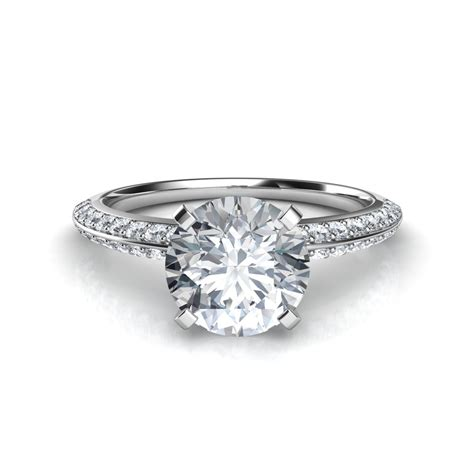 pave diamonds two row knife edge pav 233 engagement ring