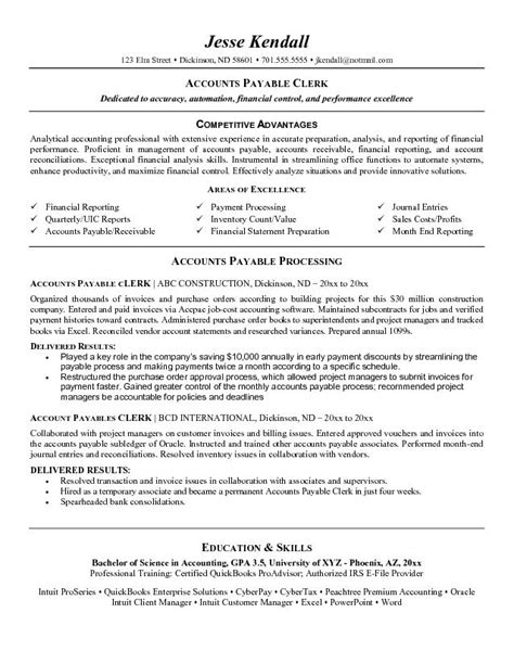 accounts receivable resume templates accounts receivable supervisor resume sles resume