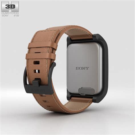 Sony Smartwatch Swr50 sony smartwatch 3 swr50 leather brown 3d model hum3d