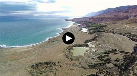 imagenes impresionantes del mar muerto impresionante retroceso del mar muerto captado por drone